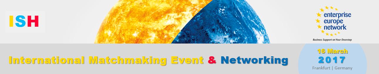 "Verslo kontaktų renginys ""ISH 2017 Brokerage Event"" Frankfurte"