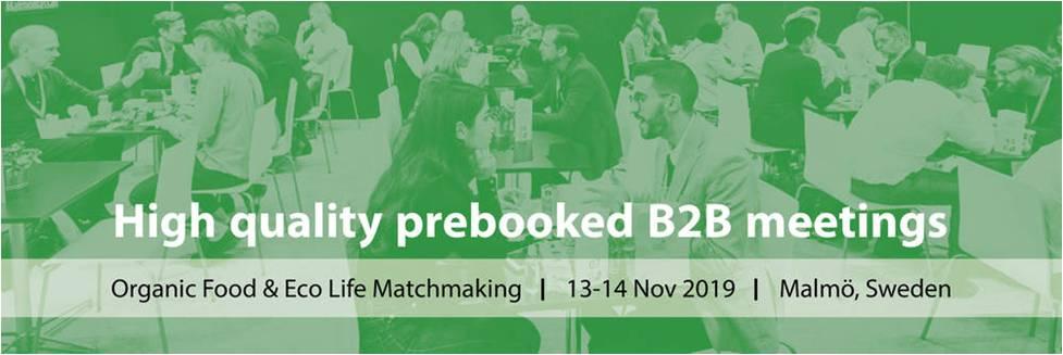 """Verslo misija į Malmę (Švedija) ir verslo kontaktų renginys """"Organic Food & Eco Life Matchmaking"""""""