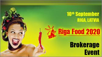 Tarptautinis maisto sektoriaus verslo kontaktų renginys RIGA FOOD 2020