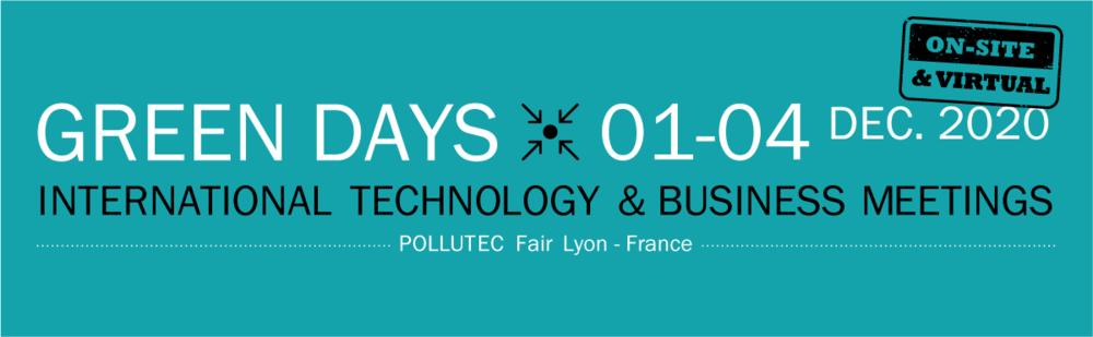 Tarptautinis virtualus verslo kontaktų renginys GREEN DAYS 2020 - POLLUTEC
