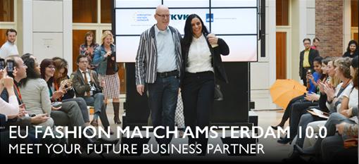 """Tarptautinis tekstilės sektoriaus  verslo kontaktų renginys """"EU Fashion Match Amsterdam 10.0"""""""