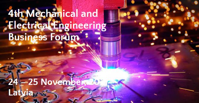 """Tarptautinis verslo kontaktų forumas """"4th Mechanical and Electrical Engineering Business Forum"""" 2021 lapkričio 24 -25 d."""