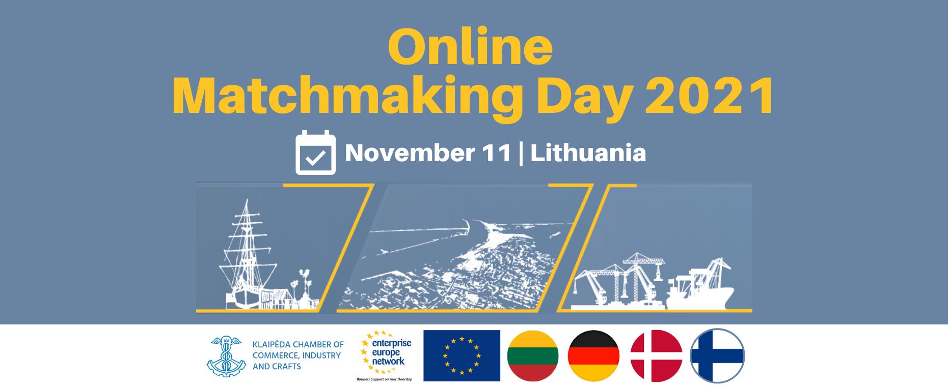 """Tarptautinis nuotolinis verslo kontaktų renginys """"Online Matchmaking Day 2021"""""""